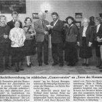 1992: Schecküberreichung im Conservatoire