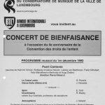 01/12/1993: Programme du Concert au Conservatoire de Musique