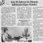 1986: 20 Jahre im Dienst der Kinder