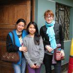 Cécile en visite dans notre projet à Lima