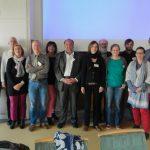 2014: AG du Cercle de ONG Luxembourg, (4e à g.) Monique Berscheid (présidente TdHL)